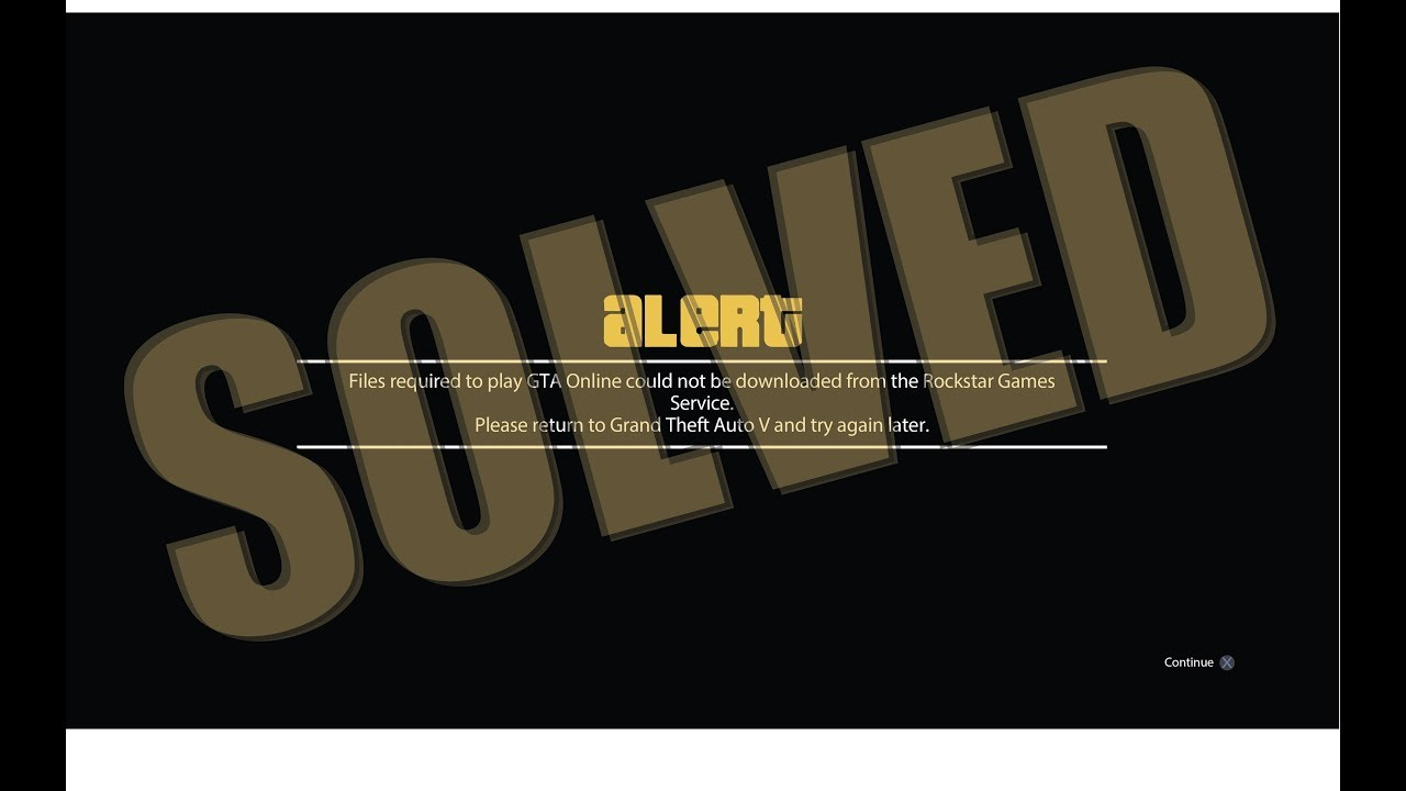 Solved - bypass Files required to play GTA Online could not be