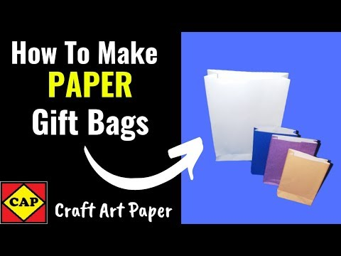 How To Make Paper Gift Bags | Paper Craft Ideas