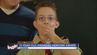 11-year-old Aurora Boy Scout earns Heroism Award
