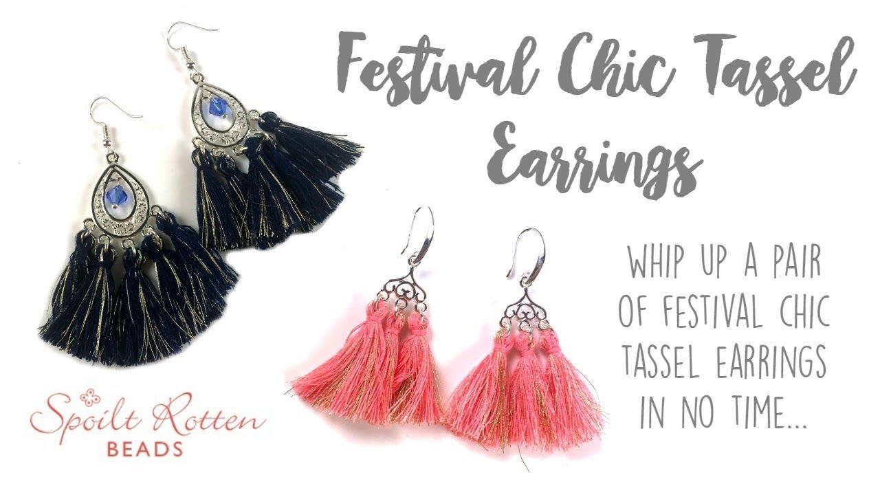 6652fdd27c91ee Festival Chic Tassel Earrings - Quick and Easy! - Spoilt Rotten Beads