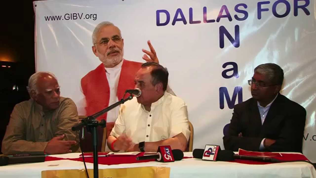 Part 3 Dr. Subramanian swamy answering questions at meet and greet in Dallas