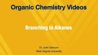 Branching in Alkanes