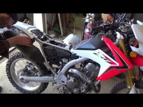 (now with sound:) Honda CRF250L bike mods exhaust and ejk programmer