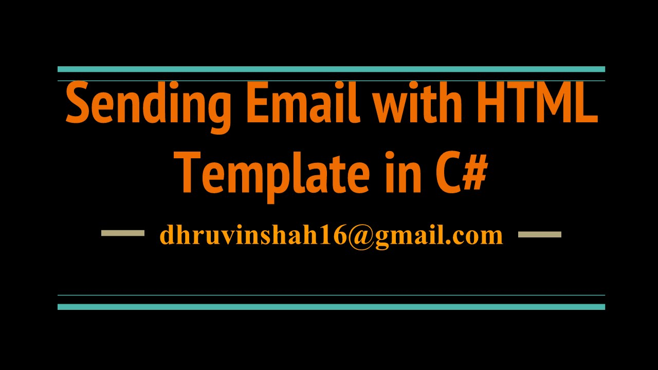 Sending Email Body With HTML Template In C YouTube - Send email html template