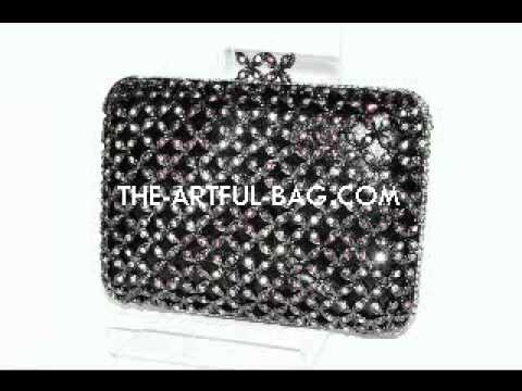 The Crystal Encrusted Labyrinth Clutch Bag from The Artful Bag