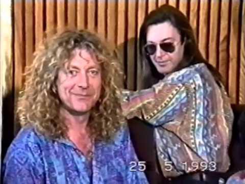 Robert Plant Prague 1993 (press conference)