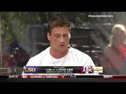 Ryan Lochte Picked Auburn To Win LSU Vs. Texas A&M On College Gameday
