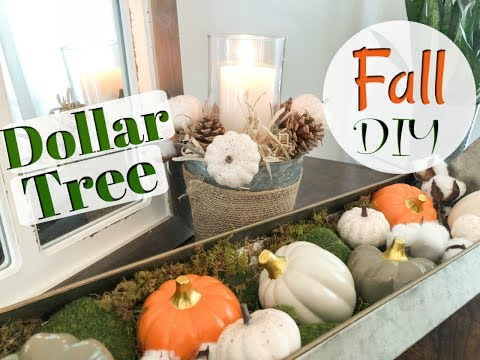 DOLLAR TREE FALL DIY + DECORATE WITH ME| EASY FALL Farmhouse Style DIY| Megan Navarro