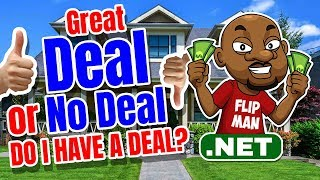 What is a Great Deal When Wholesaling Houses With No Cash or Credit?  #flipman