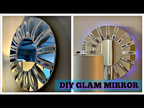 DIY Glam Wall Mirror | Wall Decor | Christmas Gift Idea