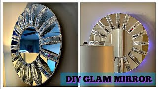 DIY Glam Wall Mirror | Wall Decor