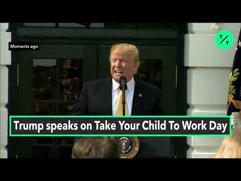 Trump Gives Advice to Kids at Take Your Child to Work Day White House Event