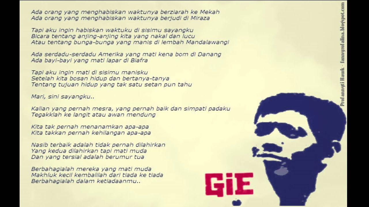 Soe Hok Gie ( Puisi Cinta ) - YouTube