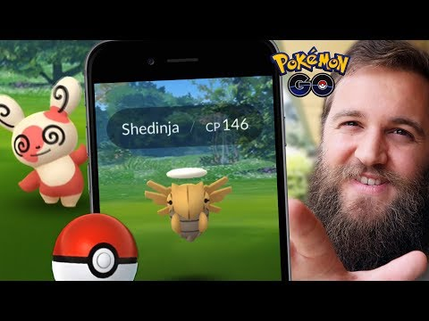 CATCHING SHEDINJA! (SEARCHING FOR NINCADA) + NEW SPINDA (POKEMON GO) thumbnail