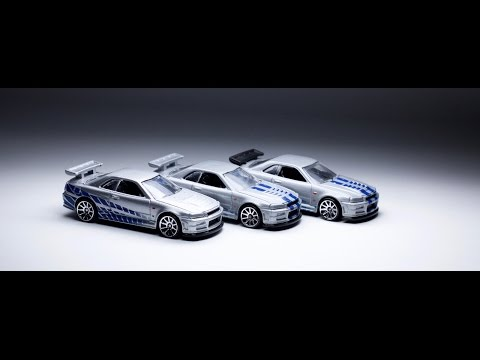 Lamley Showcase: The three different Fast & Furious Skyline R34s from Hot Wheels