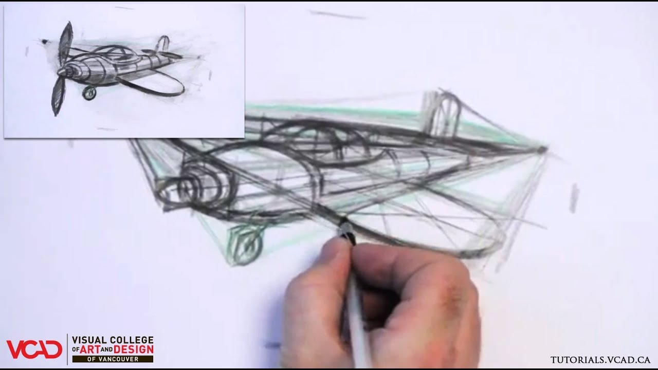 Learn How To Draw A Cartoon Airplane In Two Point Perspective Part 3