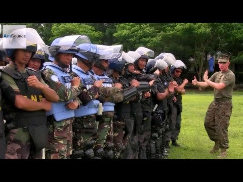 U.S. Marines & Philippines Armed Forces - Crowd Control Formations