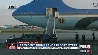 Trump Lands in Southwest Florida