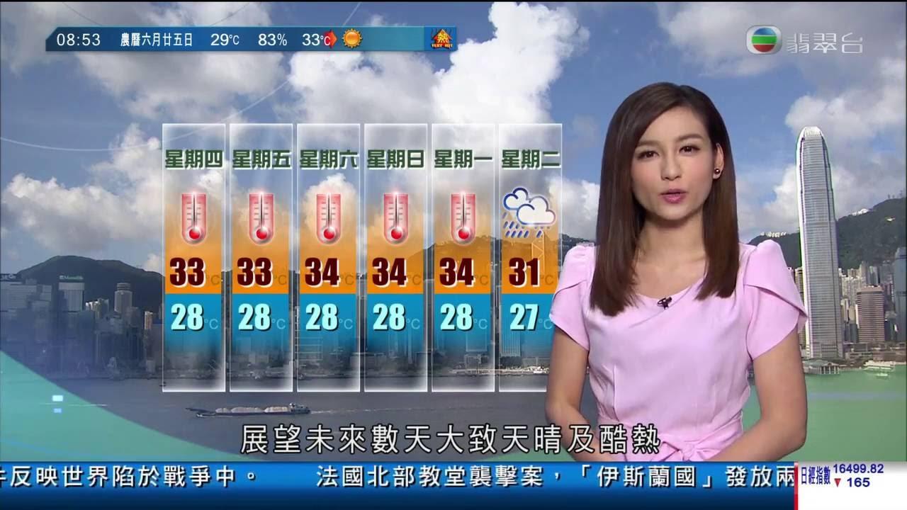 TVB 翡翠臺 20160728 香港早晨財經 + 報章要聞 + 天氣報告 + 今天日誌 - YouTube