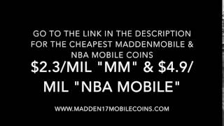 CHEAPEST MADDEN MOBILE COINS & NBA LIVE MOBILE COINS