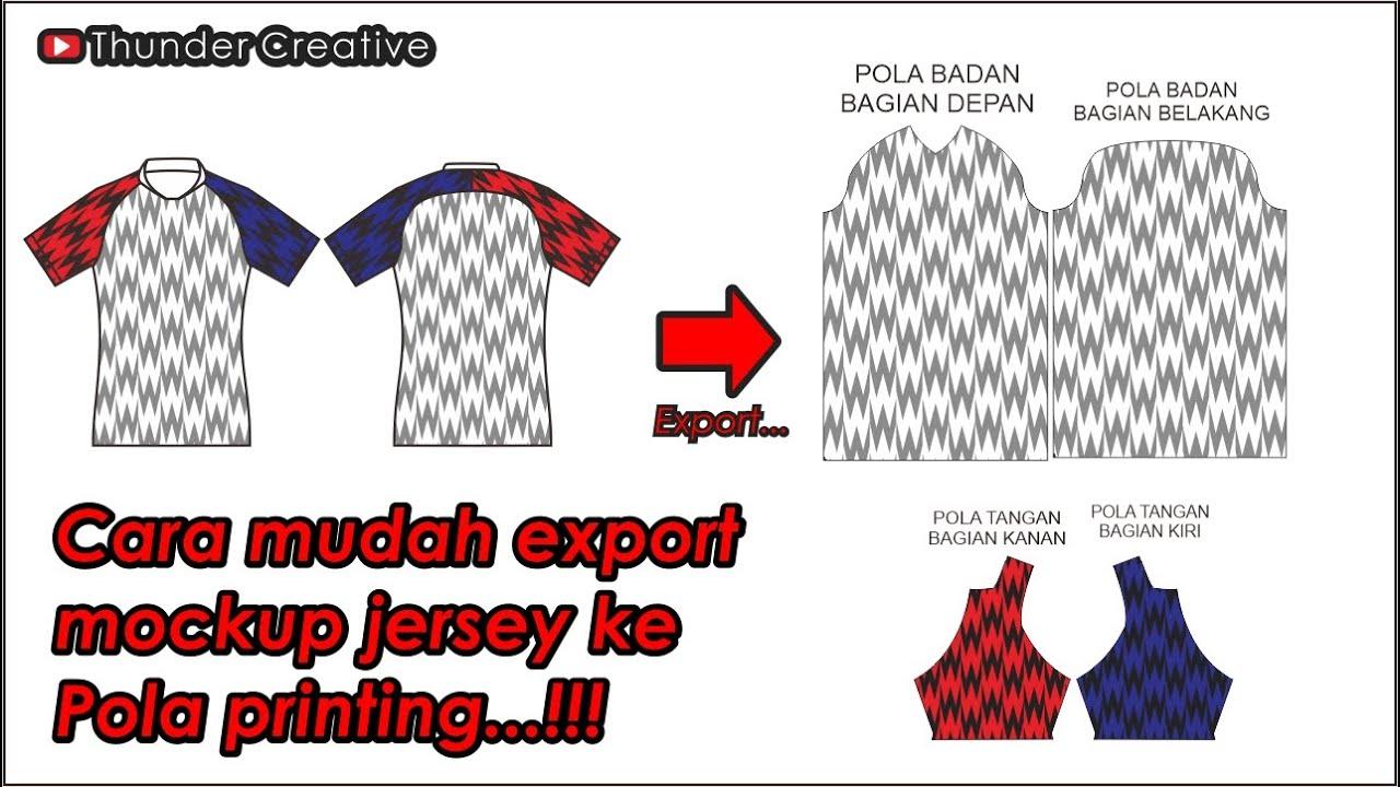 Download Cara Export Mockup Jersey ke Pola Printing - How to fill ...