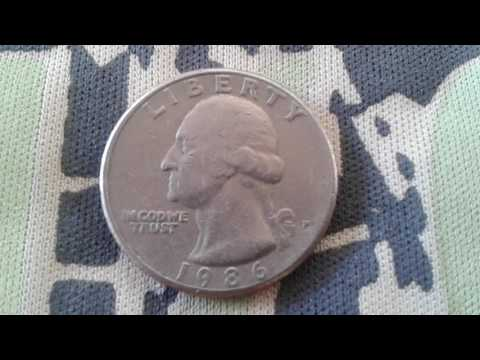 MOEDA QUARTER DOLLAR DO ANO1986, COIN QUARTER DOLLAR OF UNITED STATES OF AMERICA 1986