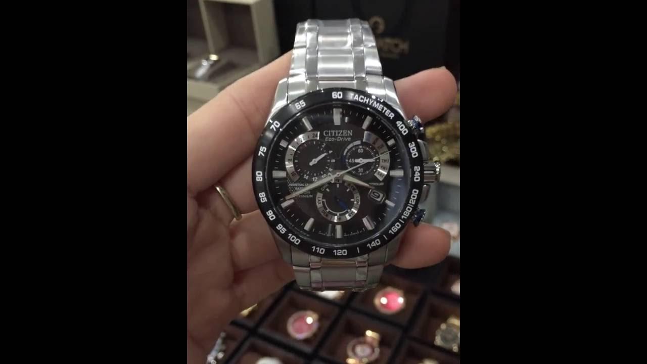 13e6874b469 Citizen Eco-Drive Men s AT4010-50E Titanium Perpetual Chrono A-T Watch
