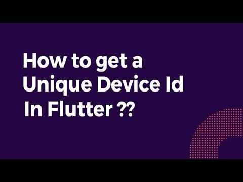 How to get a Unique Device id in Flutter?   Flutter Tutorial   Flutter Agency