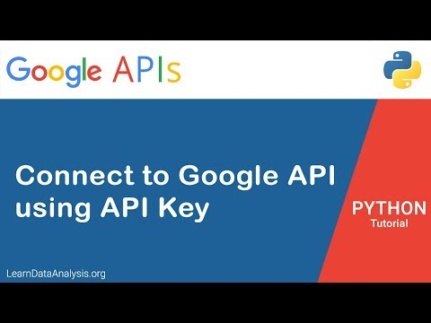 How To Create Google API Service Instance Using API Key In Python | Python Tutorial