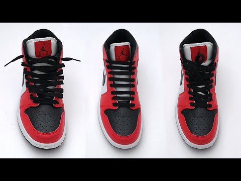 3 Cool Ways How To Lace Nike Air Jordan 1 | Nike Air Jordan 1 Lacing