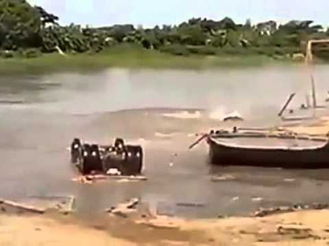 Bad day on the homemade barge!