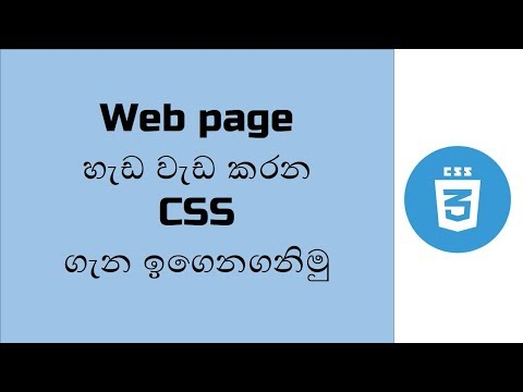 Introduction To CSS   SInhala