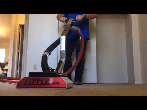 Cleaning Carpet with a Zipper SS