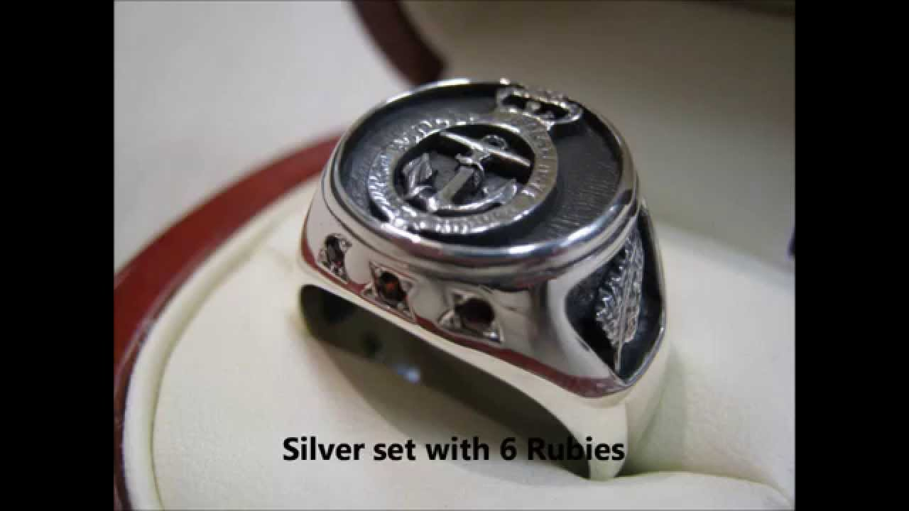 royal silver emblem mr end rings high oxidized ring tone men soc crown navy for