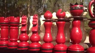 My Handmade Chess Set: Construction Pictures
