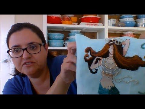 CROSS STITCH #37 Stitch Maynia - May Update 2017 (Flosstube)