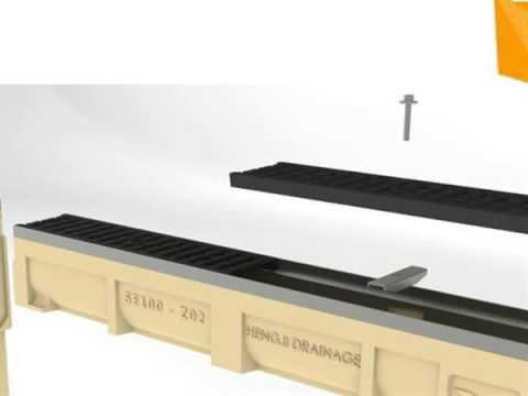 trench drains with stainless steel cover plate solutions