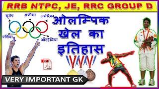 Gk in hindi l ओलंपिक खेल l Gk for rrb ntpc, je, Lekhpal, FCI,Group D Pcs, Bank l Static GK in hindi