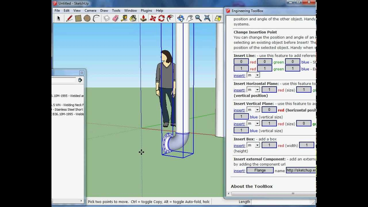 How to use the EngineeringToolBox Sketchup Extension