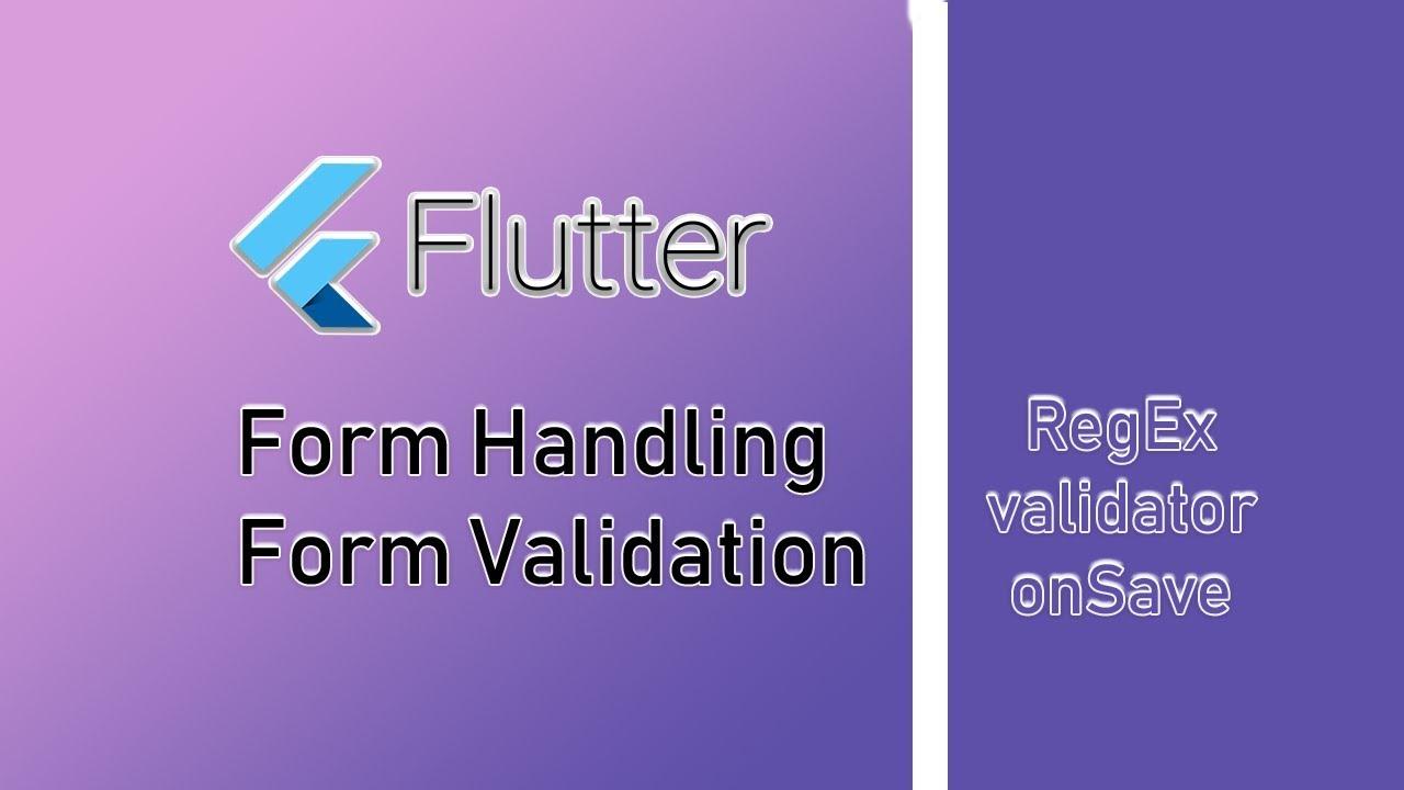 Form Validation in Flutter - Nitish Kumar Singh - Medium