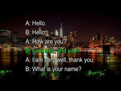 Basic English Conversation ideally suited for beginners