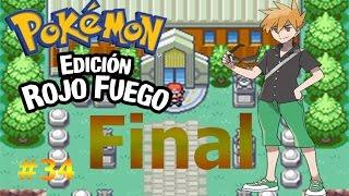 Batalla definitiva por  el campeonato de Kanto/Pokemon Rojo Fuego capítulo 34 Final
