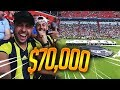 If I WIN this bet, I WIN $70,000 FROM A SOCCER FOOTBALL GAME!!