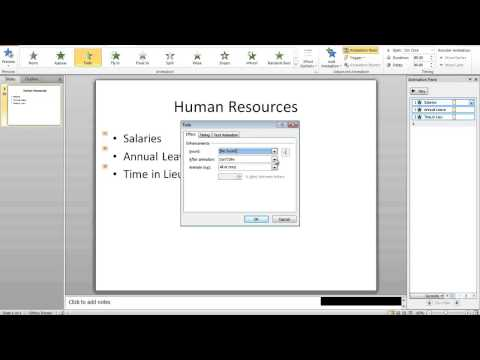 Animating bullet points in Powerpoint 2013, 2010 and 2007 to retain audience control and interest.