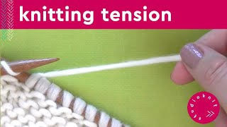 KNITTING TENSION TIPS 💖 Step by Step Slowly with Studio Knit