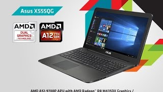 unbox laptop asus series x555QG murah 2017