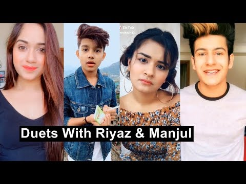 Riyaz Manjul Duets Musically Video With Avneet, Jannat and Cute Girls Best Duets Tiktok