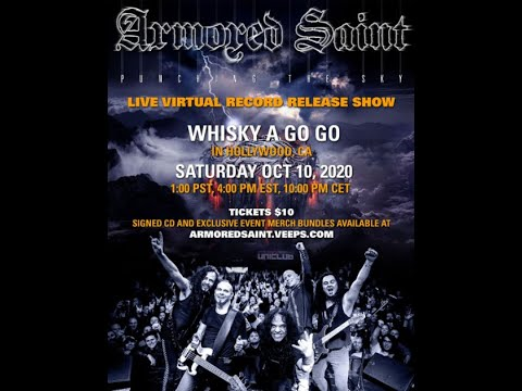 Armored Saint to livestream record release show for new album Punching The Sky ..!