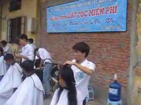 day cat toc nam - Giờ học cắt tóc thực tế nâng cao tay nghề