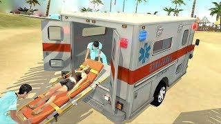 Beach Guard Ambulance & Helicopter Rescue Flight (by Games Laft) Android Gameplay [HD]